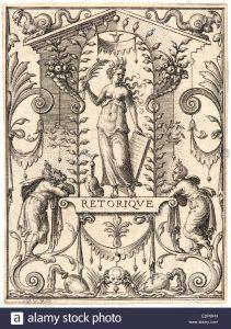 Εtienne Delaune (ca. 1519-1583). Ρητορική-Rhetoric. Λεπτομέρεια από το έργο Οι Επιστήμες-Τhe Sciences (γκραβούρα)